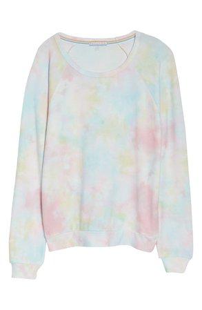 PJ Salvage Tie Dye Peached Jersey Sweatshirt | Nordstrom
