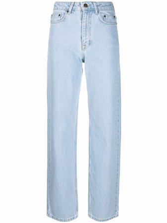 ROTATE high-waisted straight-leg Jeans - Farfetch