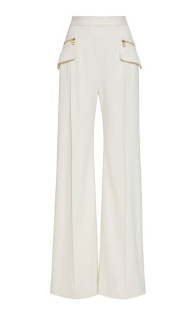 Wide-Leg Accent Pocket Crepe Pants by Brandon Maxwell | Moda Operandi