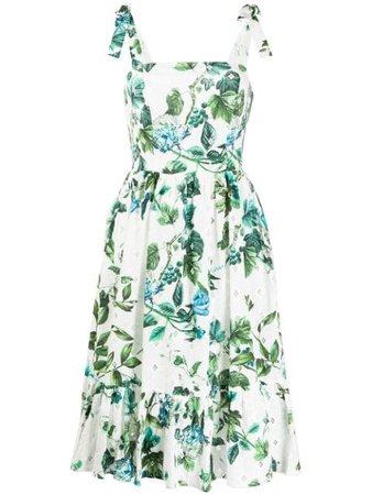 Blumarine Floral Midi Dress 20115 White | Farfetch
