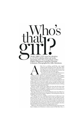 Who's that girl magazine text
