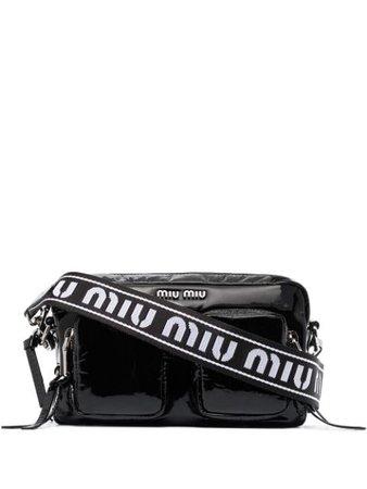 Miu Miu logo plaque zipped crossbody bag - FARFETCH