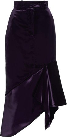 Tom Ford Asymmetric Velvet Midi Skirt