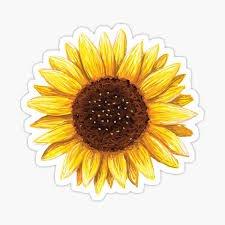 sunflower sticker - Google Search