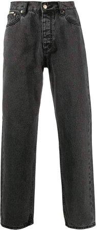 Benz straight-leg boyfriend jeans