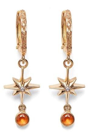 Marlo Laz Lucky Star Diamond & Sapphire Earrings | Nordstrom