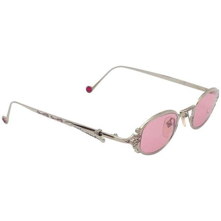 New Vintage Jean Paul Gaultier 56 0001 Silver Side ClipJapan Sunglasses For Sale at 1stDibs