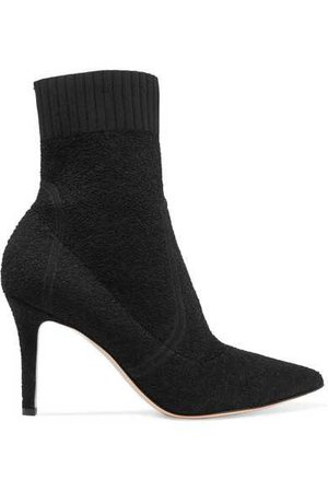 Gianvito Rossi | 85 stretch-terry sock boots | NET-A-PORTER.COM