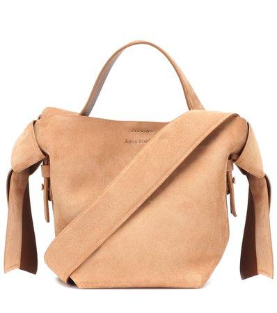 Musubi Mini Suede Shoulder Bag - Acne Studios   mytheresa