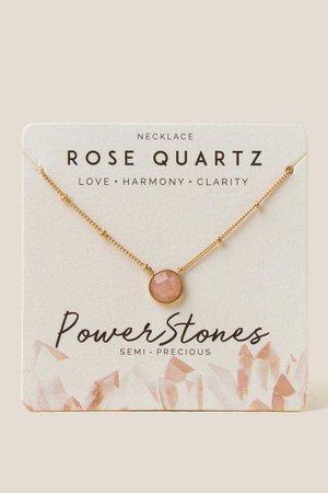 Loucinda Rose Quartz Pendant Necklace | francesca's