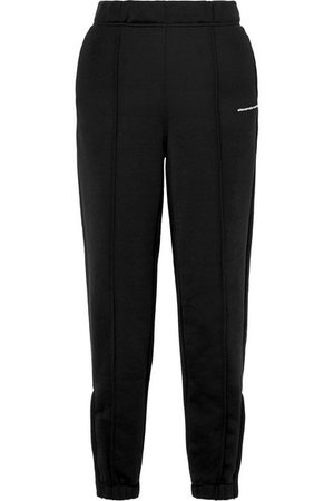 T by Alexander Wang | French cotton-blend terry track pants | NET-A-PORTER.COM