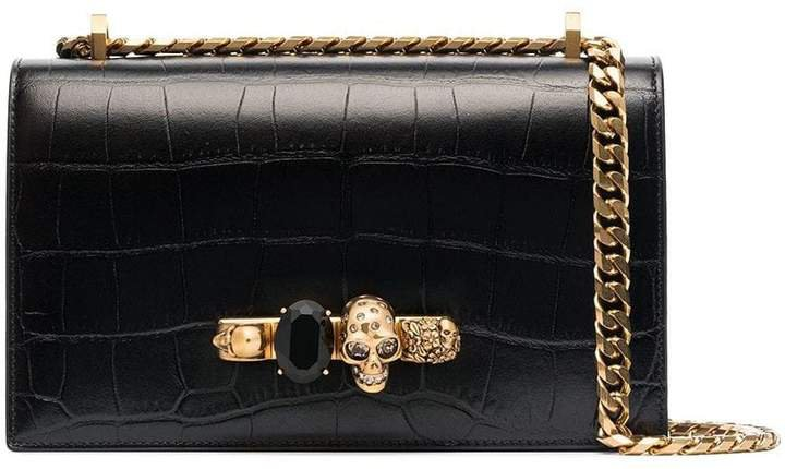 Leather Jewelled Satchel