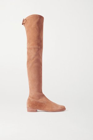 Lowland Suede Over-the-knee Boots - Camel