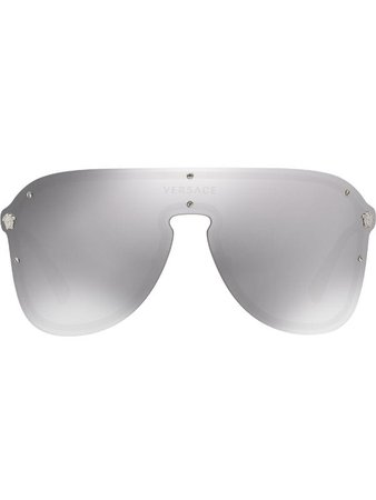 Versace Eyewear #Frenergy Visor Sunglasses - Farfetch