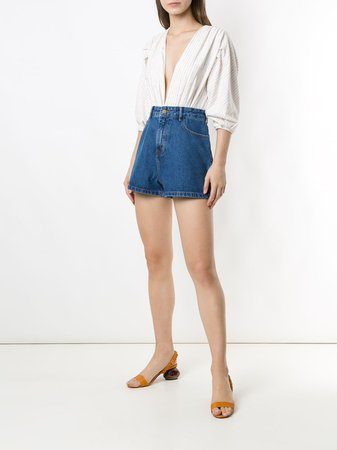 Framed Lola Denim Shorts - Farfetch