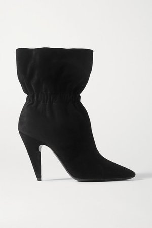 Etienne Suede Ankle Boots - Black