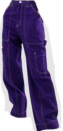 purple pants cargo pants