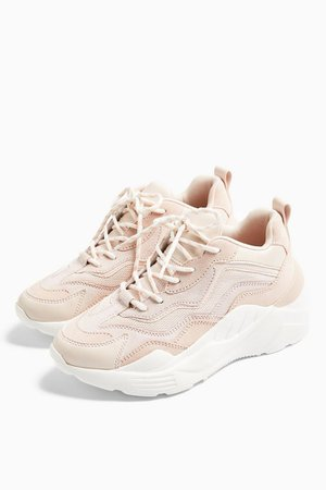 CANCUN Blush Pink Chunky Trainers | Topshop