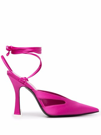 The Attico Pointed ankle-tie Pumps - Farfetch