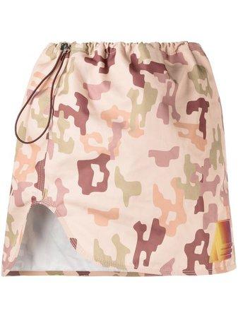 The Attico Camouflage Print Mini Skirt - Farfetch
