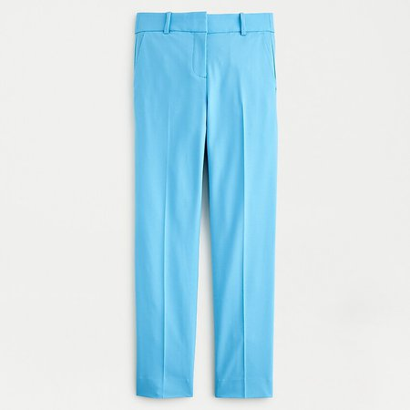 J.Crew: Cameron Slim Crop Pant In Italian Stretch Wool blue