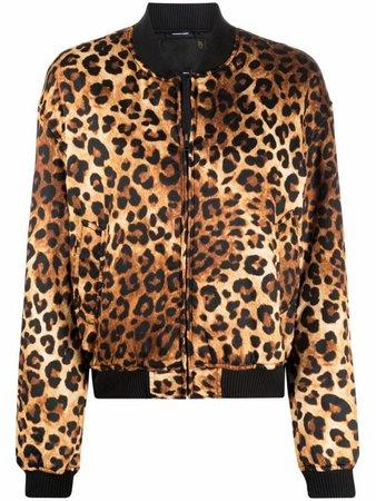 R13 leopard print bomber jacket - FARFETCH