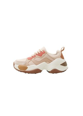 MANGO Contrast appliqué sneakers