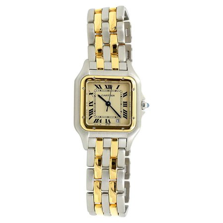 Cartier Certified Pre-Owned Circa 1986 Panthere Watch For Sale at 1stDibs