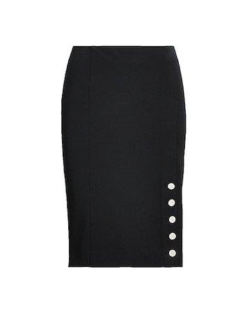 Lauren Ralph Lauren Button-Trim Cotton-Blend Skirt - Knee Length Skirt - Women Lauren Ralph Lauren Knee Length Skirts online on YOOX United States - 35438524VL