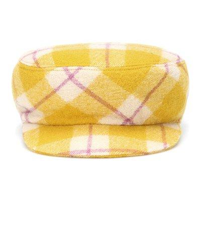 Naly plaid virgin wool hat
