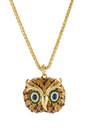 Embellished Owl Necklace Gr. One Size