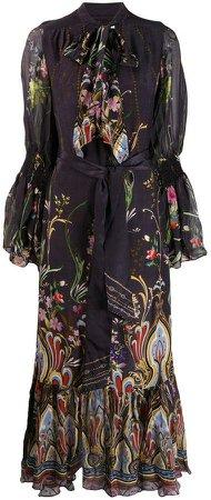wild flower bell sleeve dress