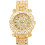 Amazon.com: Iced Out Watch - Gold: Watches