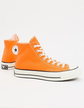 Converse chuck '70 hi orange sneakers   ASOS