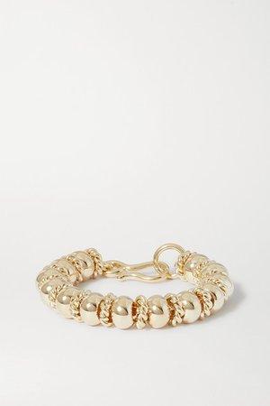Laura Lombardi   + NET SUSTAIN Serena gold-plated bracelet   NET-A-PORTER.COM