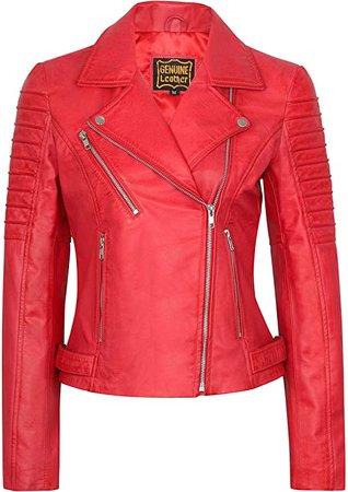 SKYLINEWEARS Women's Lambskin Leather Bomber Motorcycle Biker Real Leather Jacket at Amazon Women's Coats Shop
