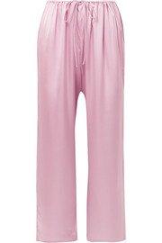 Skin   Reina stretch-silk satin pajama shirt   NET-A-PORTER.COM