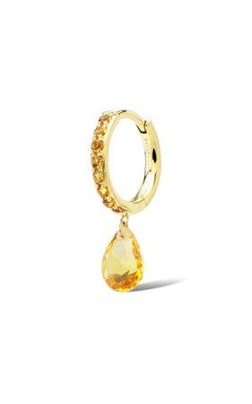 18k Yellow Gold Citrine Earring By Persée | Moda Operandi