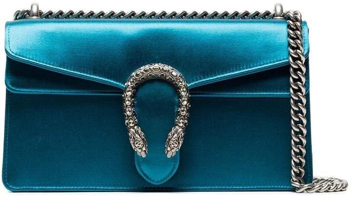 Blue Dionysus small satin shoulder bag