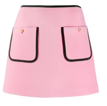 MIU MIU | contrast piping a-line skirt, £625