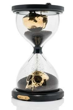 Skull time piece hourglass