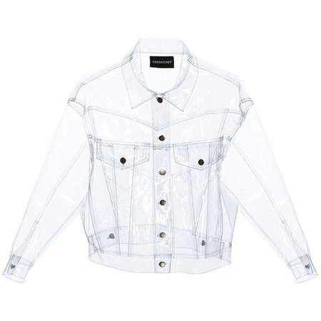 clear plastic jacket