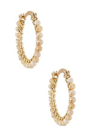 Mercedes Salazar Florecitas Hoop Earrings in Opal | REVOLVE