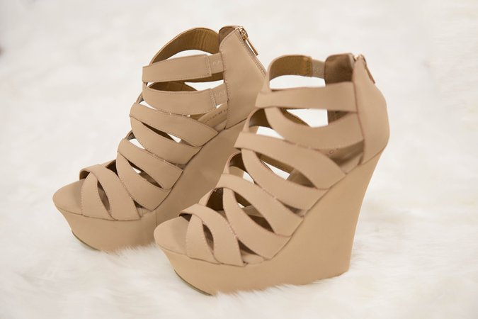 The Aria Wedges Nude