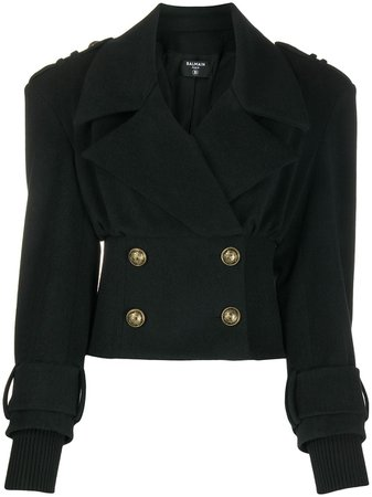 Balmain Cropped double-breasted Jacket - Farfetch