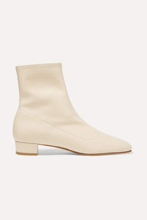 Este Leather Ankle Boots - Off-white