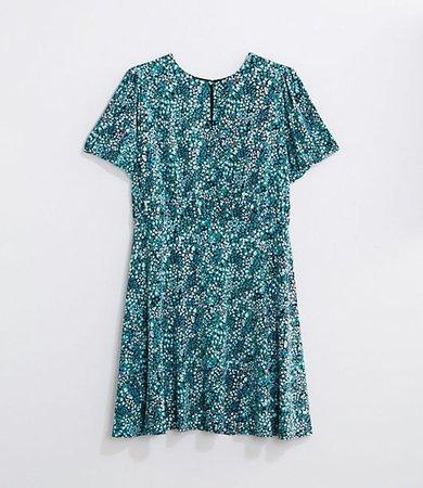 Plus Wildflower Puff Sleeve Flare Dress