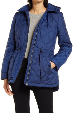 Onion Quilted Hooded Coat