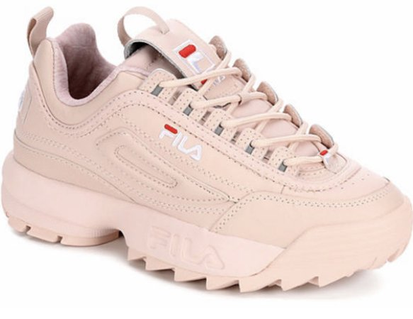 pink Fila disputer shoes