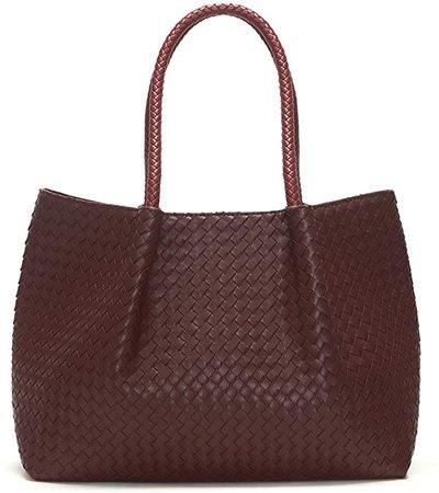Amazon.com: Lulu Dharma Napa Vegan Leather Tote-Burgundy Wine: Shoes